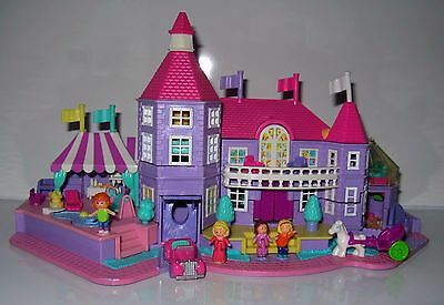 1994 Vintage Polly Pocket Light-up Magical Mansion Complete 5 Flags and bag