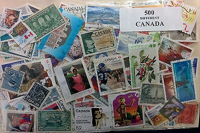 Canada 500 All Different Stamp Collection Lot