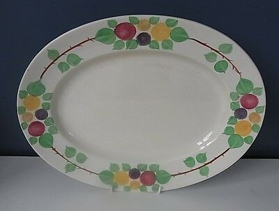 """VINTAGE RIDGWAYS """"CALIFORNIA"""" OVAL SERVING PLATE - 14 1/4"""" x 11"""" - 1950's - VGC"""