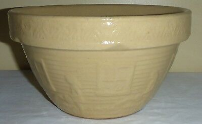 Rare Vintage 8 Inch Mccoy Watering Can Girl Yellow Ware Mixing Bowl
