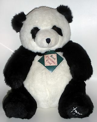 """Harrods 1993 Foot Dated 13"""" Collectable Annual Christmas Teddy Bear Panda Tagged"""