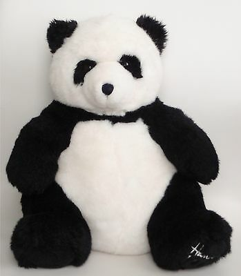 """Harrods 1993 Foot Dated 13"""" Annual Christmas Collectable Teddy Bear Panda VGC"""