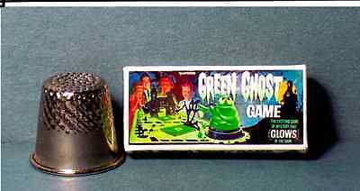 Dollhouse Miniature 1:12 Green Ghost Game  1960s Dollhouse game Haunted House