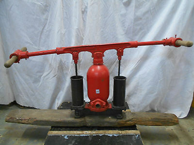 Antique Deep Sea Diving Hand Lever Air Pump Japanese Cast Metal and Brass  #3