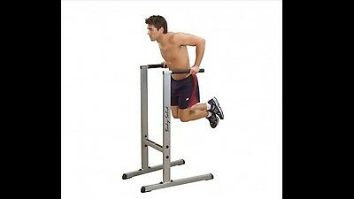 Body Solid dip station weights fitness