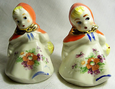 Vintage Hull Little Red Riding Hood Salt And Pepper Shakers Excellent