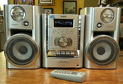 Sony CMT-HP7 Micro HI-FI Component System Stereo 5 CD Changer Tape AM/FM