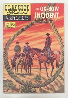 Classics Illustrated #125 No HRN (Orig) FN+ Del Bourgo, Oxbow Incident by Clark