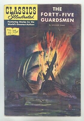 Classics Illustrated #113 HRN 114 (Original) FN The Forty Guardsmen by A. Dumas