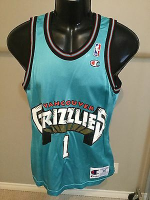 Vancouver Grizzlies #1 Size 36 Basketball Jersey