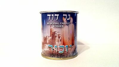 Memorial Candle  Kosher 1pcs New Candle of David Soul Burns Approx 24 Hours