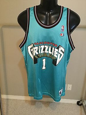 Vancouver Grizzlies #1 Size 44 Basketball Jersey