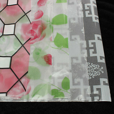 Home Decorative Privacy Glass Window Film Flower Frosted Stained Sticker 45*90cm