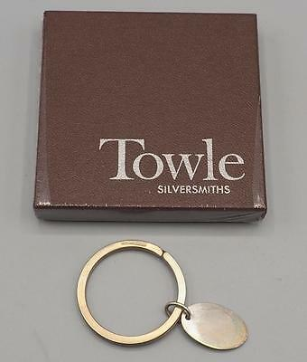Towle Sterling Silver Oval Key Ring w/ Box