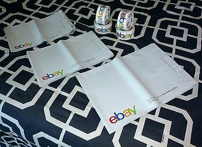 eBay Shipping Supplies 4 Rolls of Tape and 59 Polyjackets