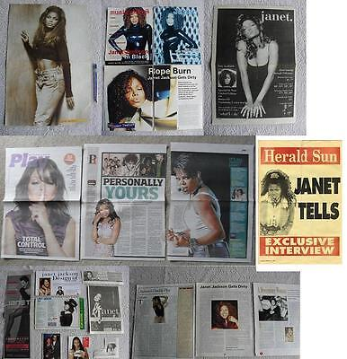 JANET JACKSON RARE IMPORT POSTERS CLIPPINGS LOT (Michael Jackson) Free Post