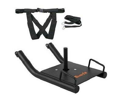 NEW Durable Steel Fitness Cardio Strength Training Exercise Power Sled - Black