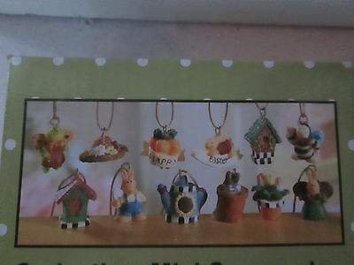 """Pkg of 12- Tiny Resin Miniature Easter - Spring Ornaments, 1/2"""" - 3/4"""" NEW"""