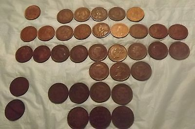 CANADA LARGE CENTS Lot of 35 mixed 1859 to 1916 -Better Condition