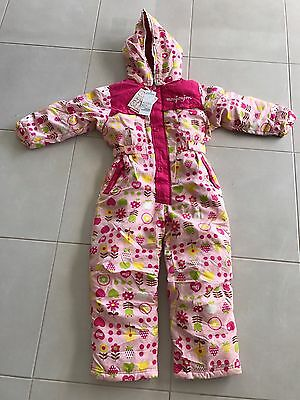 Japan Pink Flowers Girls Snowsuit Ski suit Snow All In One Heights 110cm