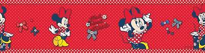 Minnie Mouse Self-Adhesive Wallpaper Border New Official Disney