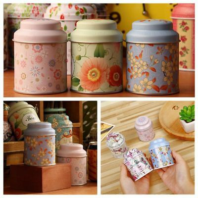 Quality Metal Sugar Coffee Tea Tin Jar Container Candy Sealed Cans Storage Box