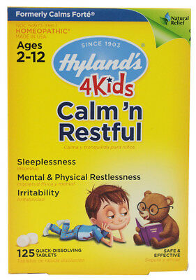 Hylands Homeopathic Calm And Restful 4 Kids Quick Dissolving - 125 Tablets
