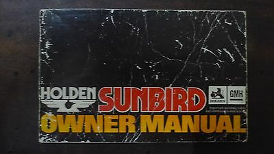 Holden Sunbird Owner Manual