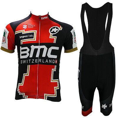 2017 Men's Team Bike Cycling jersey/Shirt & bib shorts set Sports TOP clothing