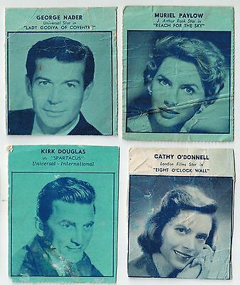 Sweetacres Fantales Movie Star Collector Cards (4) Lot 2 - NOW SELLING LAST LOTS