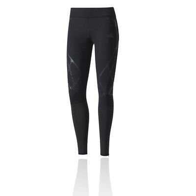 Adidas Adizero SW Womens Black Compression Running Long Tights Bottoms Pants
