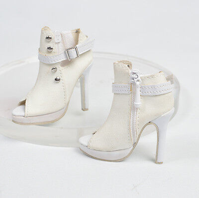 Sherry White Suede Boots Shoes/ Raccoon doll Nina, MSD 1/4 ball jointed (23DS2