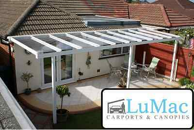Glass clear garden awning patio shelter canopy lean to sun shade protection kit