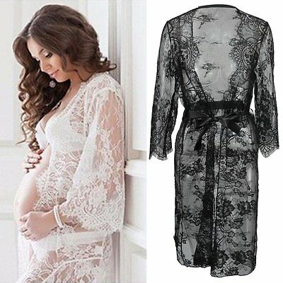 Pregnant Women Photography Props Maternity Dress Wedding Party Dresses Lace Gown