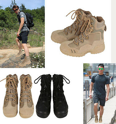 Outdoor Mens High-quality Military Tactical Boots Round Men Desert Combat Boots