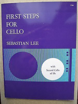 First Steps for Cello by Sebastian Lee *NEW* publisher Stainer & Bell