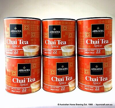 SALE 6 x Arkadia Chai Latte Spice 440g Chai Tea Spice Chai Powder