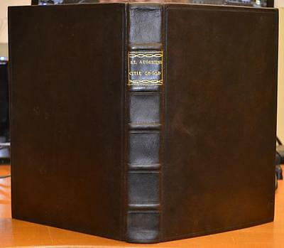 1620. Folio. St Augustine 'Of The Citie Of God'  V.RARE. FINE BINDING .Theology