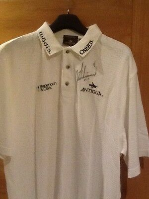Lee Westwood owned, worn and signed shirt Open 2005