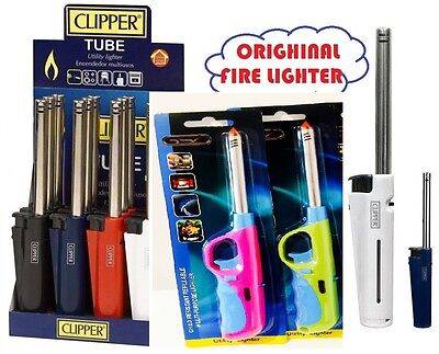 BBQ Fire Lighter Gas Cooker Camping Kitchen Hob Short Long Refillable Safety LTr