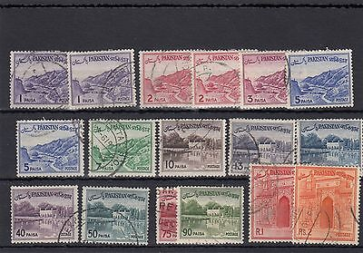 Pakistan 17 -- 1961 Used Stamps On Stockcard