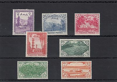 Pakistan.7 -- 1954 Sg65/71 Mounted Mint Stamps On Stockcard.