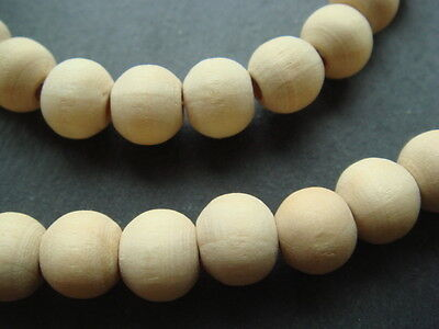 Necklace & bracelet wood bead surfer beach festival style elastic set