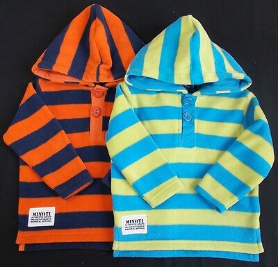 Minoti baby boys jumper hooded fleece bnwts 6-12