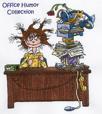 Office Humor Collection - Machine Embroidery Designs On Cd