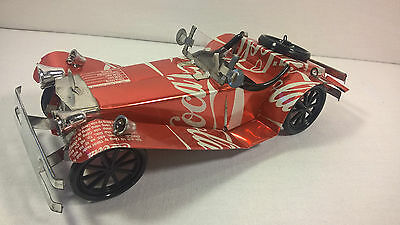 Recycled Tin Can Model: Coke classic car  - fairly traded