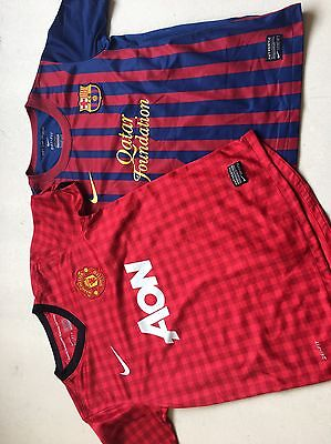 manchester united And Barcelona Shirts