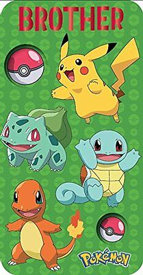 Pokemon Brother Birthday Card 250596 NEW