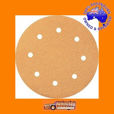 """20 x EURO QUALITY 200mm (8"""") VELCR0 SANDING DISCS 40,80,120 or 180 GRIT.8-hole"""