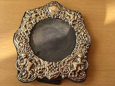 Solid Silver Cherub Design Photo Frame